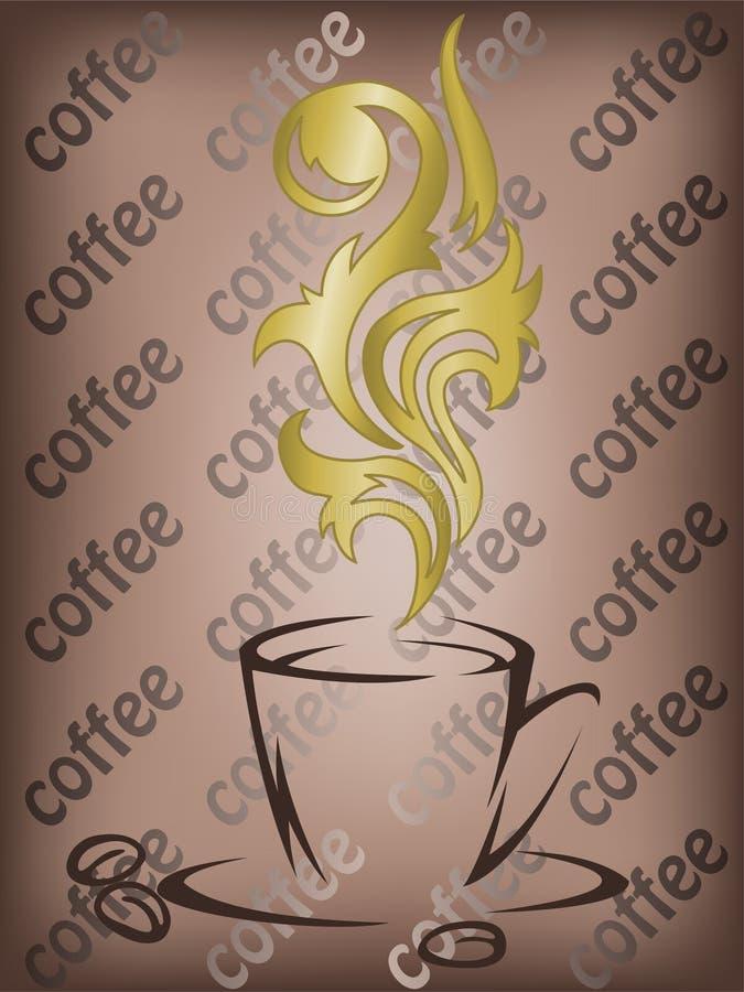 флейвор кофе золотистый иллюстрация штока