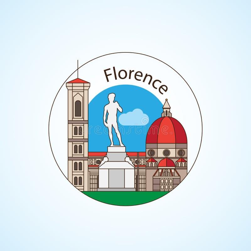Флоренс Италия детализировало силуэт Ультрамодная иллюстрация вектора бесплатная иллюстрация