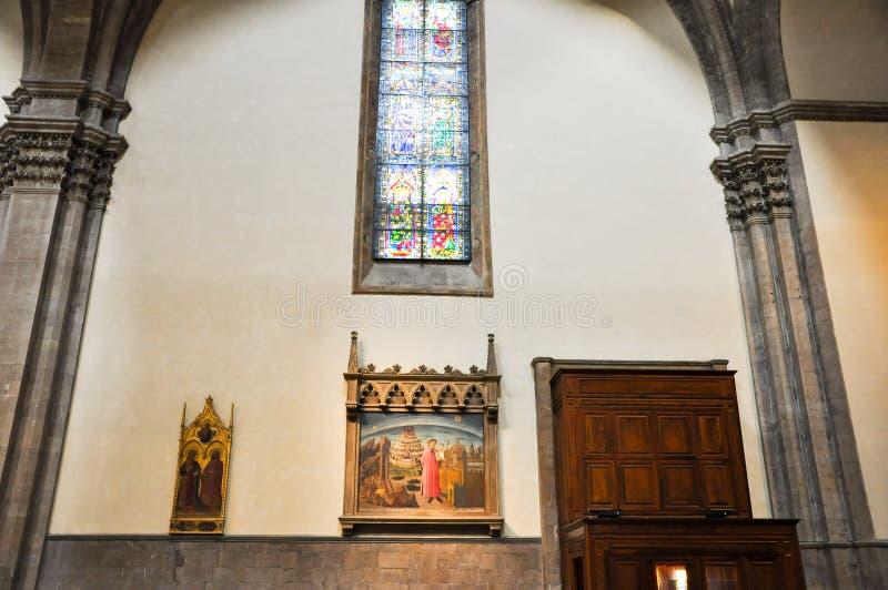 ФЛОРЕНЦИЯ 10-ОЕ НОЯБРЯ: Dante и божественная комедия в фреске Michelino на 10,2010 -го ноября. стоковая фотография rf