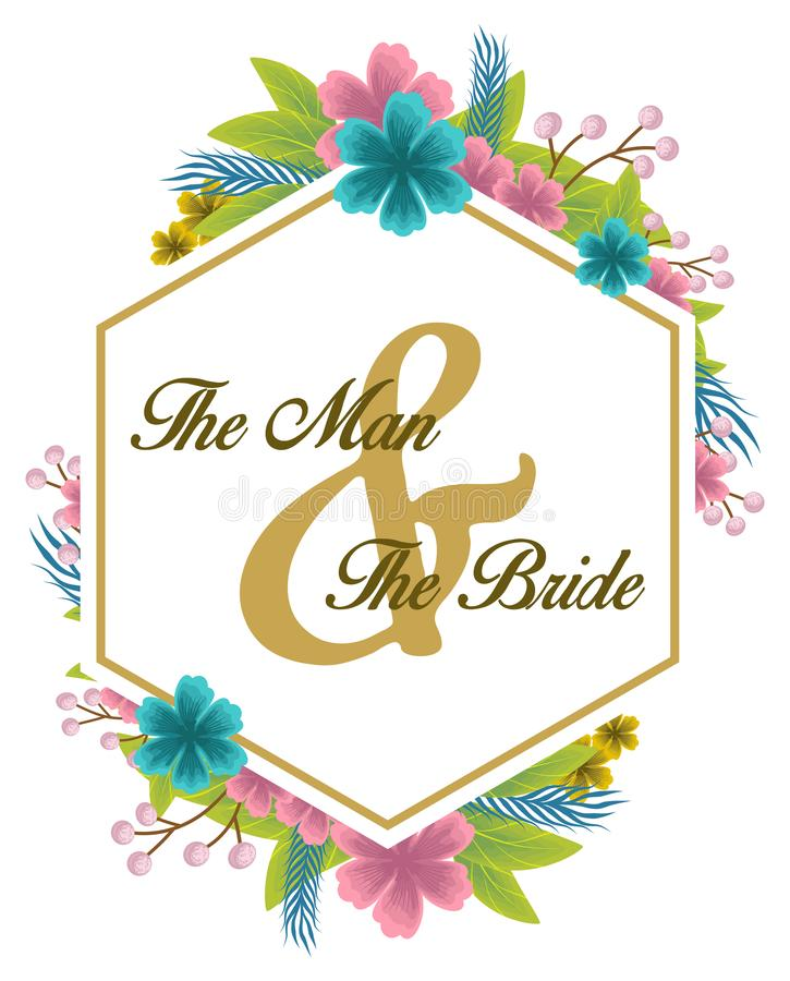 флористическая акварель для приглашения свадьбы бесплатная иллюстрация