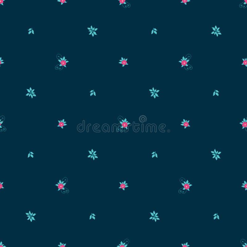 Флористическая безшовная картина вектора с крошечными цветками бесплатная иллюстрация