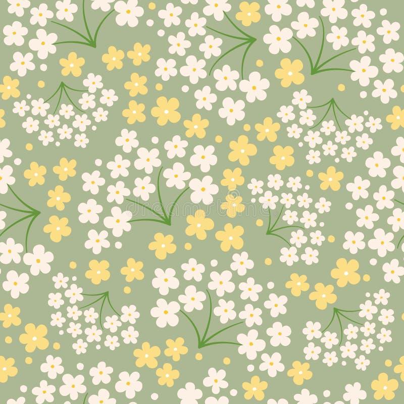 Флористическая безшовная картина, плоский дизайн для пользы как предпосылка, обруч иллюстрация штока