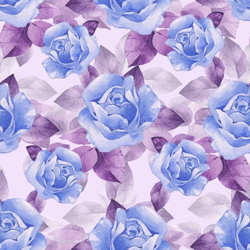 Флористическая безшовная картина с красивым ro иллюстрация вектора