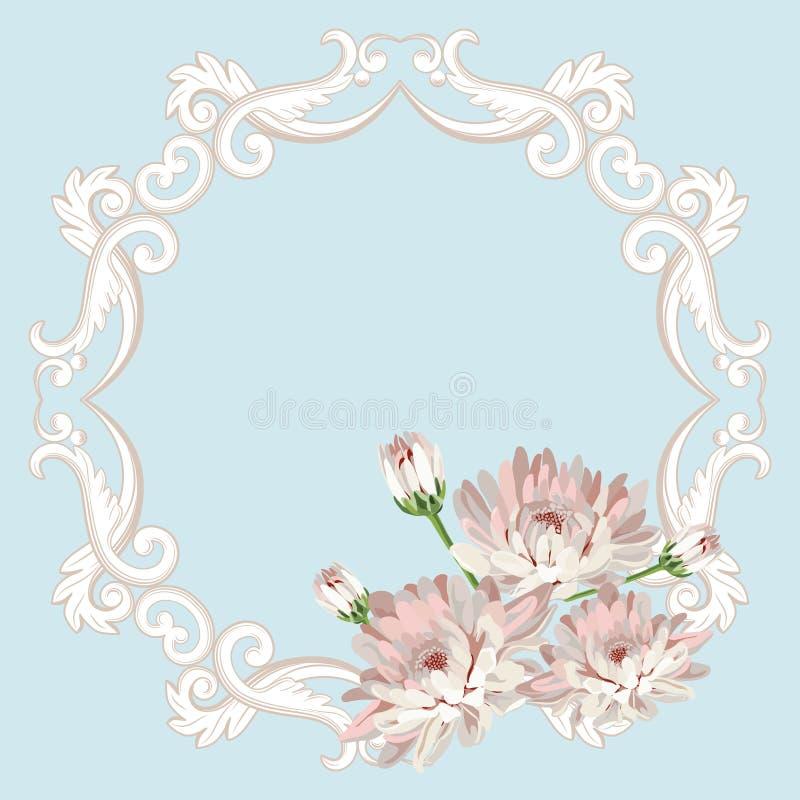 Флористическая безшовная рамка бесплатная иллюстрация