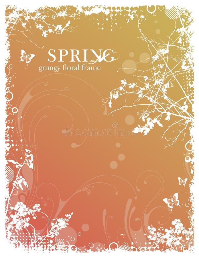 флористическая весна рамки иллюстрация вектора