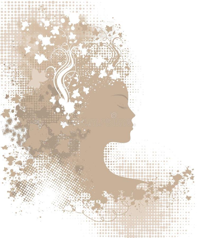флористическая женщина grunge бесплатная иллюстрация