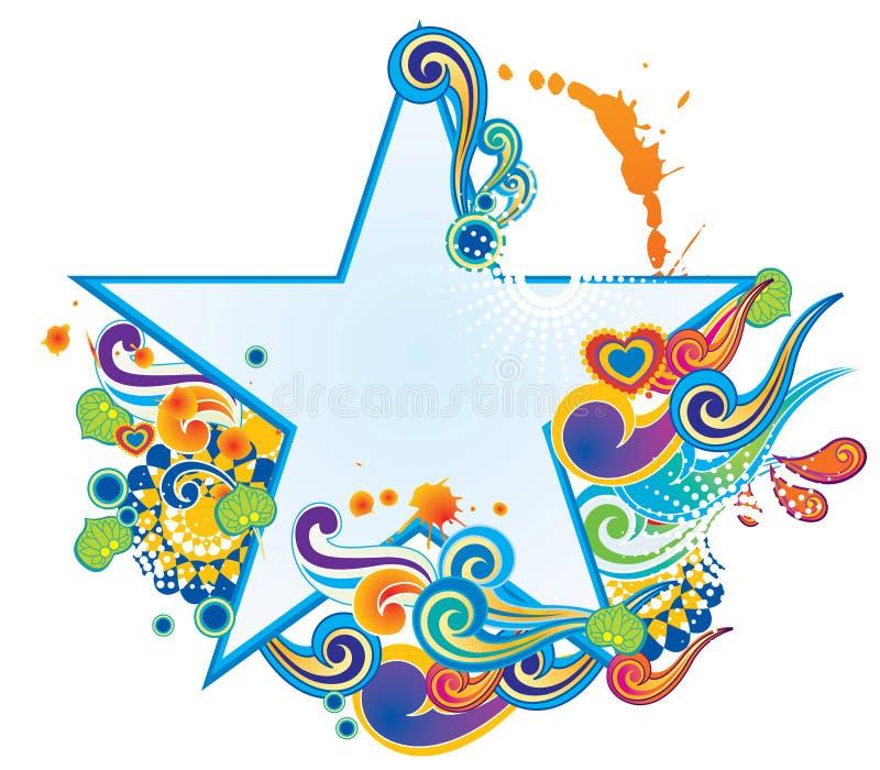 флористическая звезда signboard иллюстрация штока