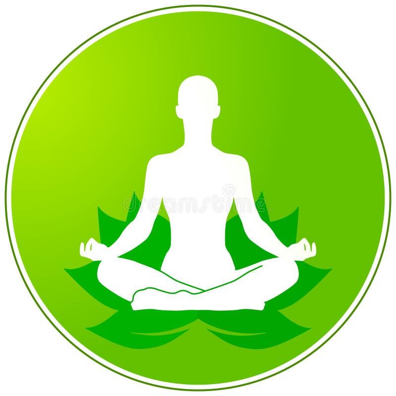флористическая зеленая йога иллюстрация штока