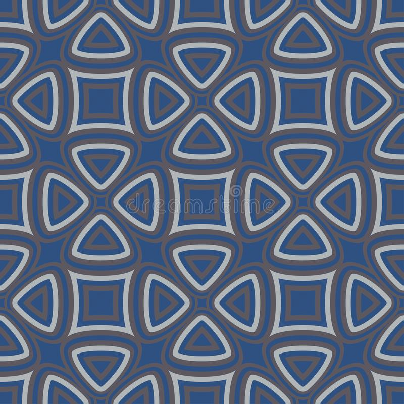 флористическая картина безшовная Синяя предпосылка с дизайнами цветка иллюстрация штока