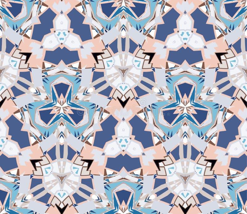 флористическая картина безшовная Составленный форм конспекта цвета расположенных на белой предпосылке бесплатная иллюстрация