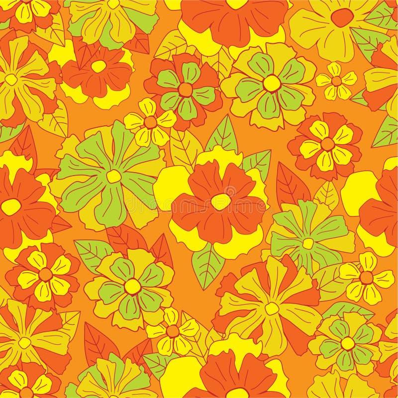 флористическая картина ретро иллюстрация вектора