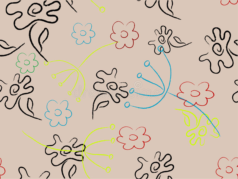 флористическая картина иллюстрация штока
