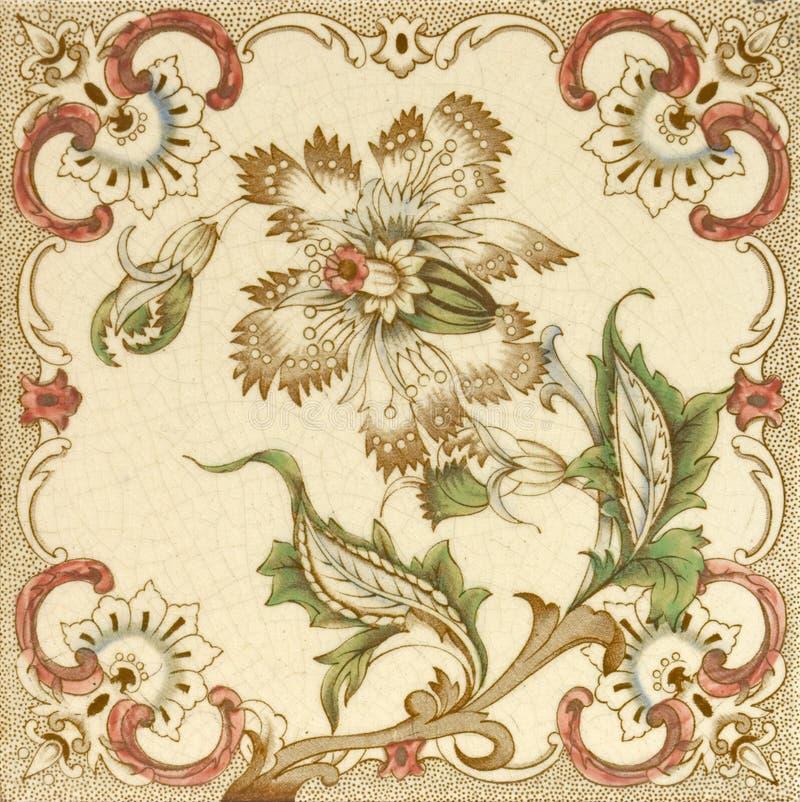 флористическая плитка брызга стоковое фото rf