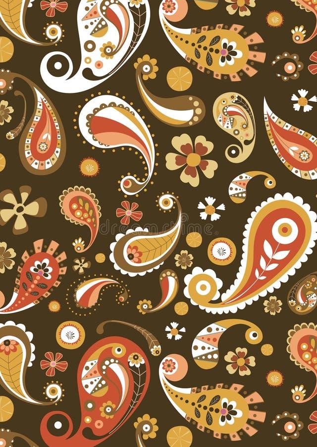флористическая померанцовая картина бесплатная иллюстрация