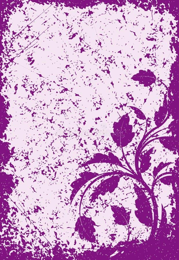 Флористическая предпосылка вектора grunge в фиолетовых тонах для вашего дизайна иллюстрация штока
