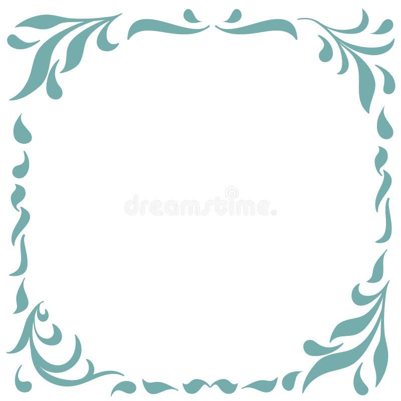 Флористическая рамка для дизайна вензелей, приглашений, рамок, меню, ярлыков и вебсайтов Графические элементы для дизайна  иллюстрация вектора