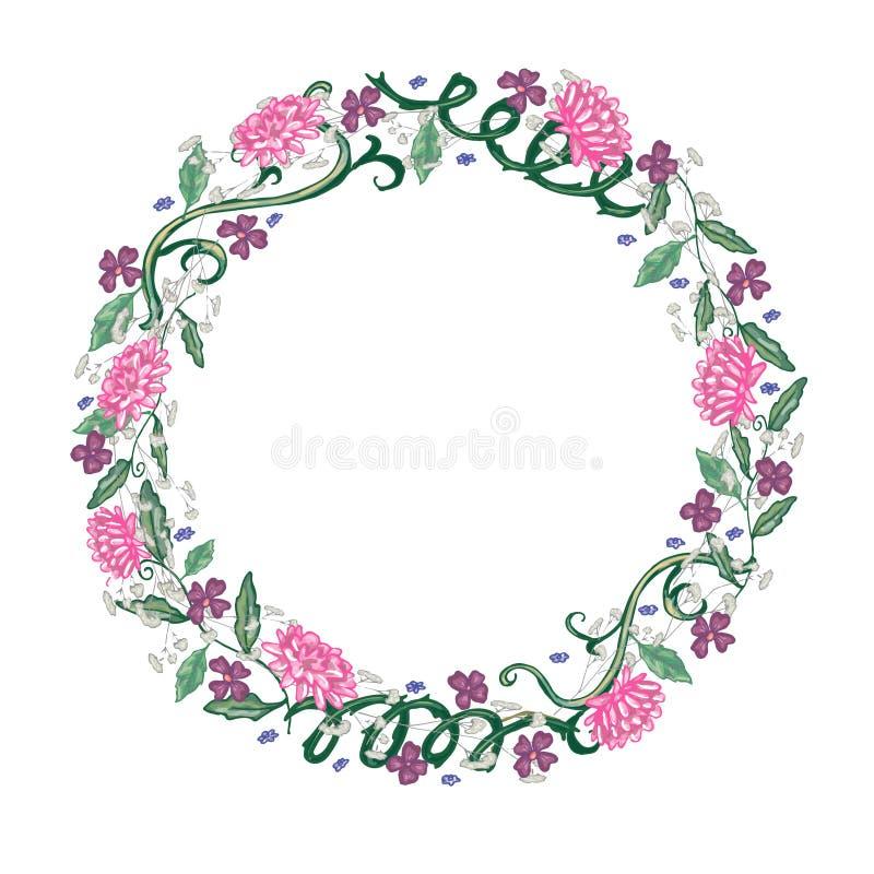 флористическая рамка обрамляет серию иллюстрация штока