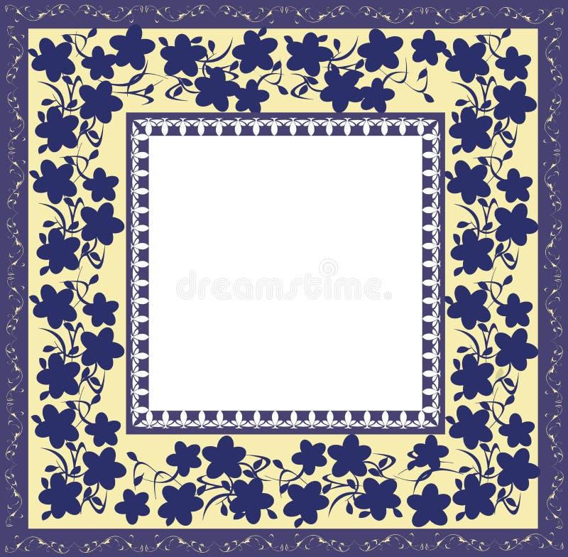 флористическая рамка стилизованная иллюстрация штока