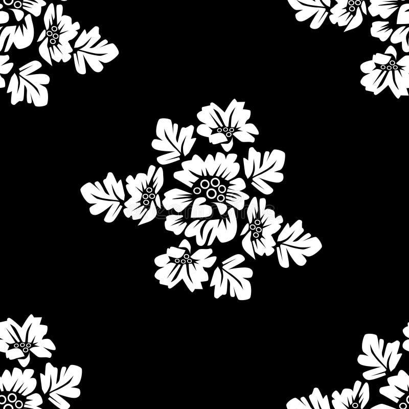 флористическая monochrome картина безшовная иллюстрация штока