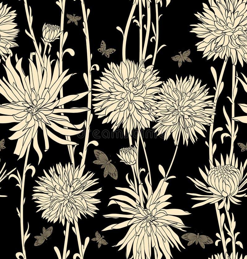 Флористические безшовные обои бесплатная иллюстрация