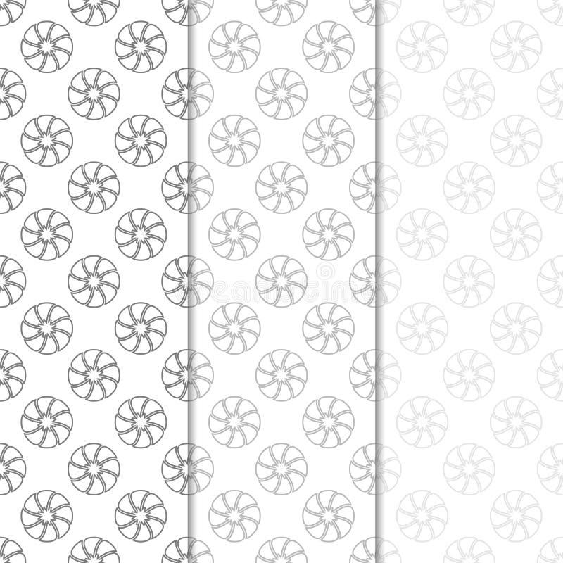 флористические картины безшовные Комплект света - серых вертикальных предпосылок обоев иллюстрация вектора
