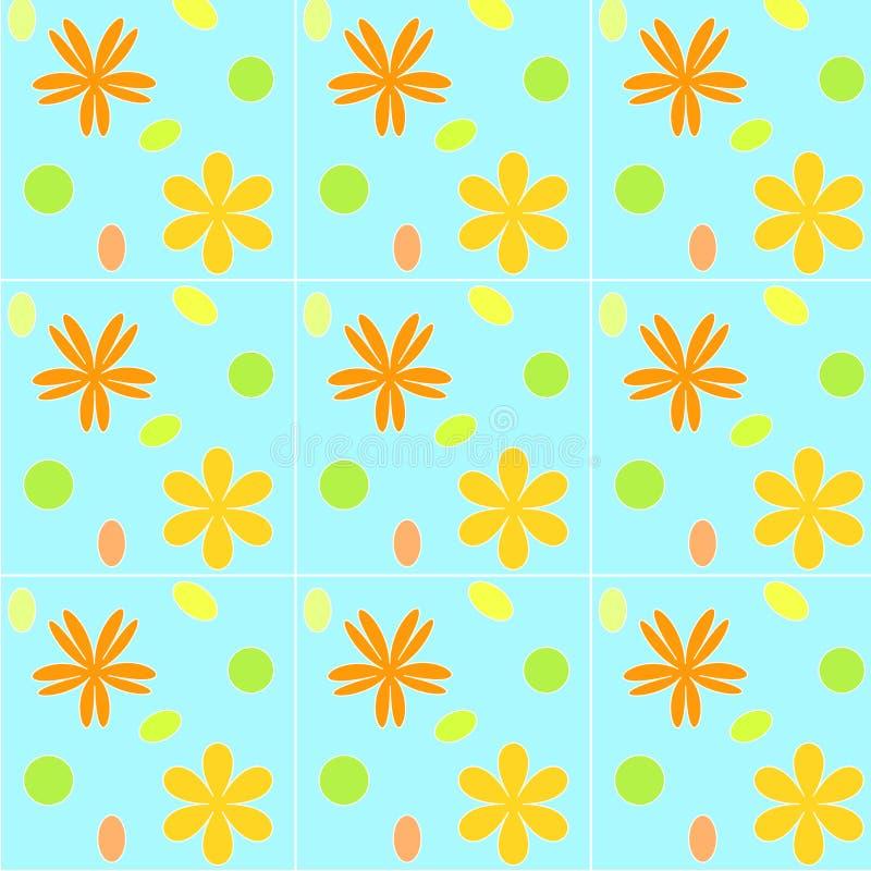 флористические плитки иллюстрация штока