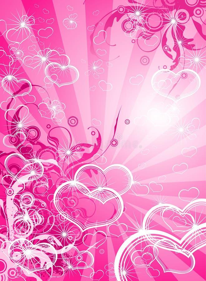 флористические valentines сердец иллюстрация штока