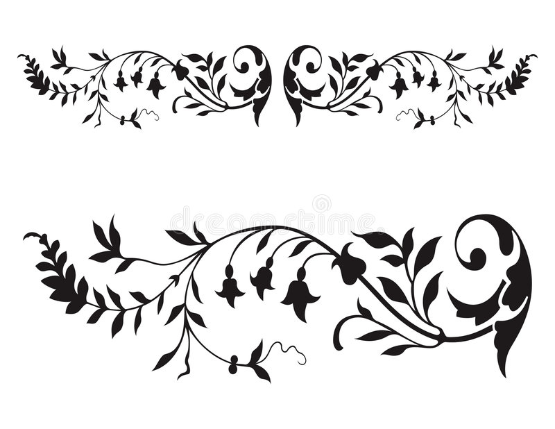 флористический вектор ренессанса иллюстрация штока