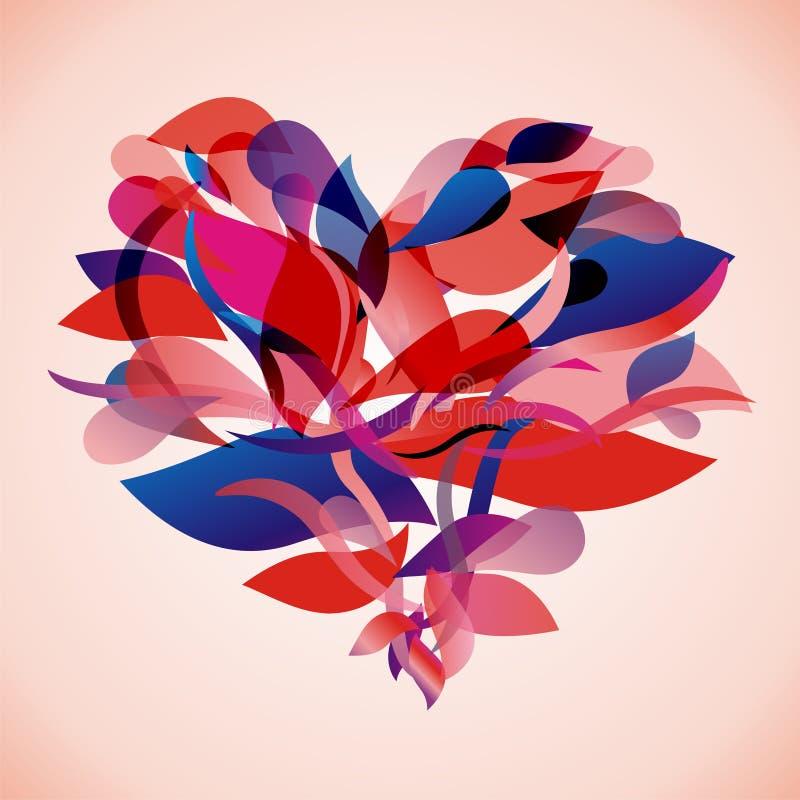 флористический вектор сердца иллюстрация штока