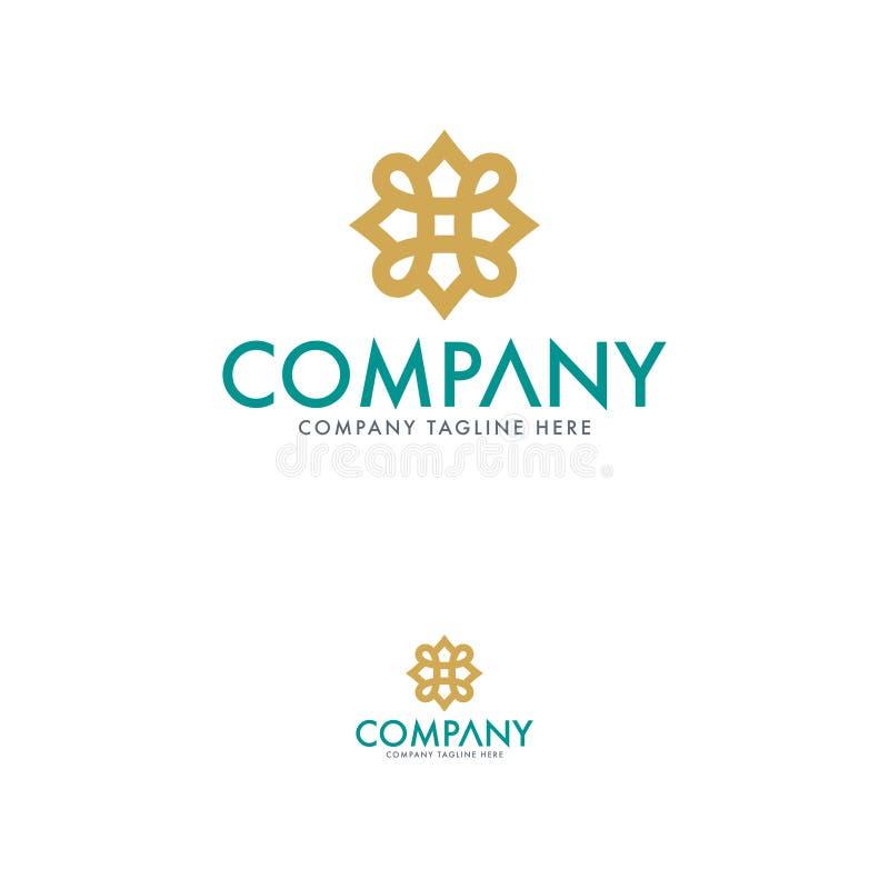 Флористический и винтажный шаблон дизайна логотипа иллюстрация штока