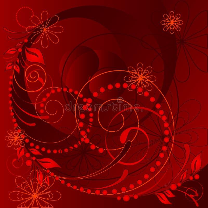 флористический красный вектор иллюстрация вектора