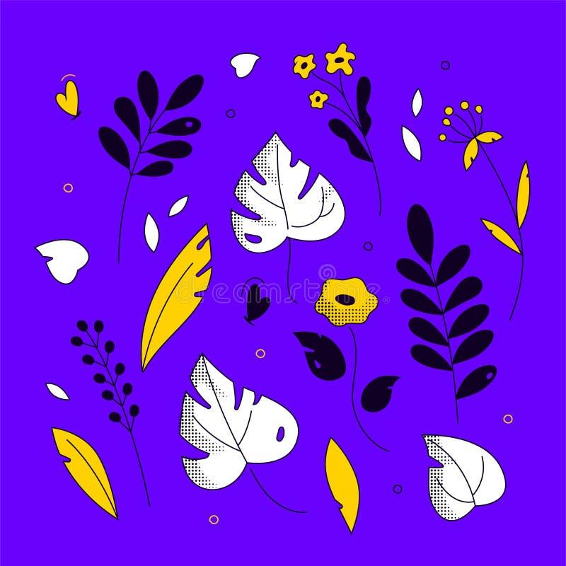 Флористический орнамент - современная плоская иллюстрация стиля дизайна бесплатная иллюстрация