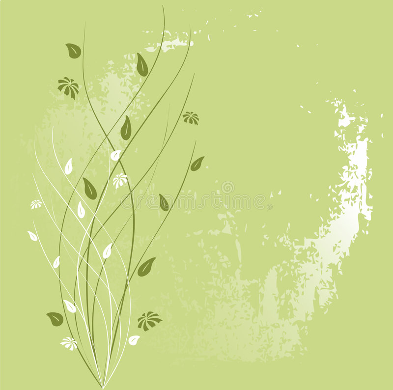 флористический орнамент grunge иллюстрация вектора
