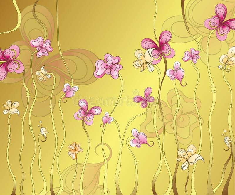 флористический пинк иллюстрация вектора