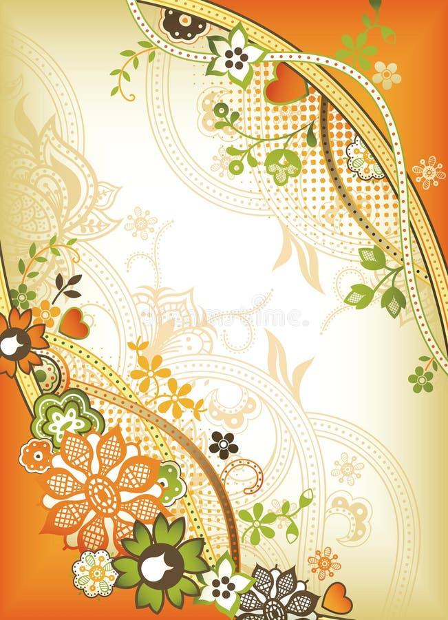 флористический помеец иллюстрация штока