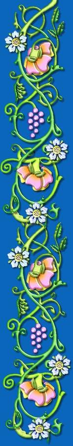 флористический сбор винограда лозы мотива иллюстрация вектора