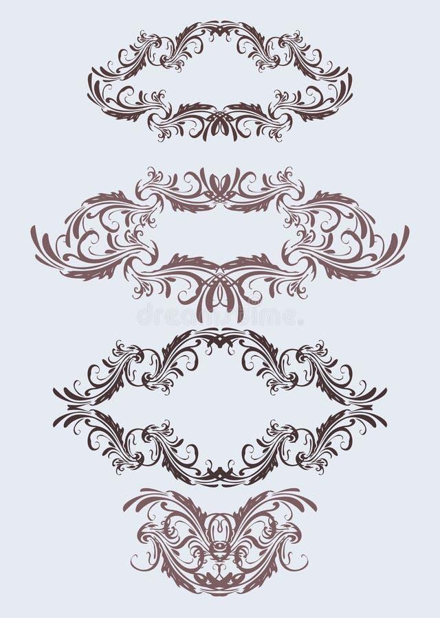 флористический сбор винограда рамок иллюстрация штока