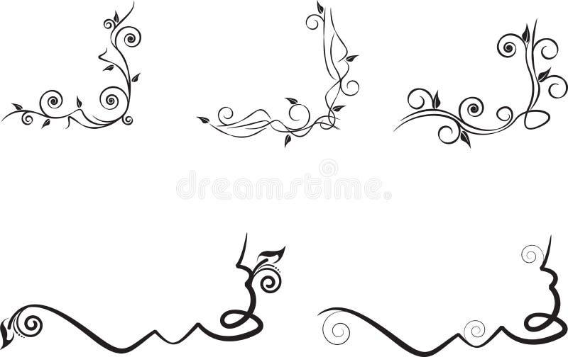 Флористический угол иллюстрация штока