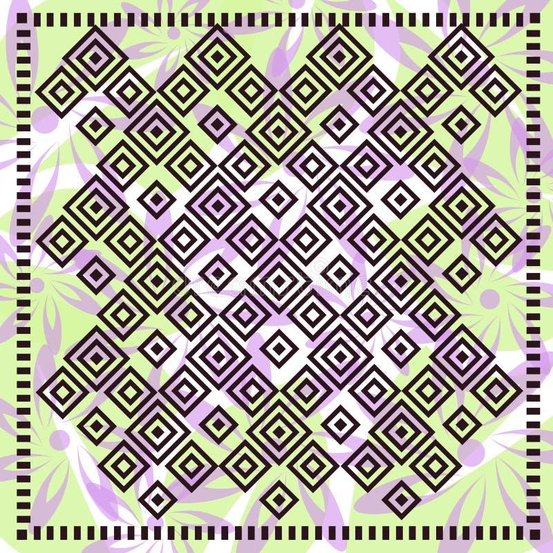 Флористический шарф с поводом мозаики иллюстрация штока