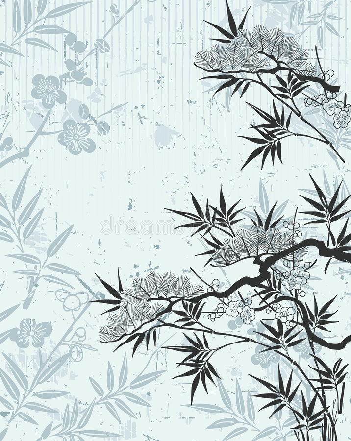 флористический японец иллюстрация штока