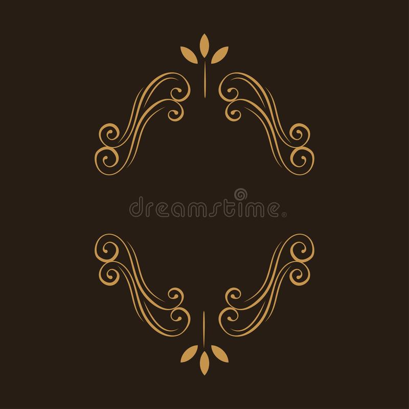флористический ornamental рамки Украшение страницы Свирли, элемент дизайна переченя эффектной демонстрации венчание приглашения п иллюстрация вектора