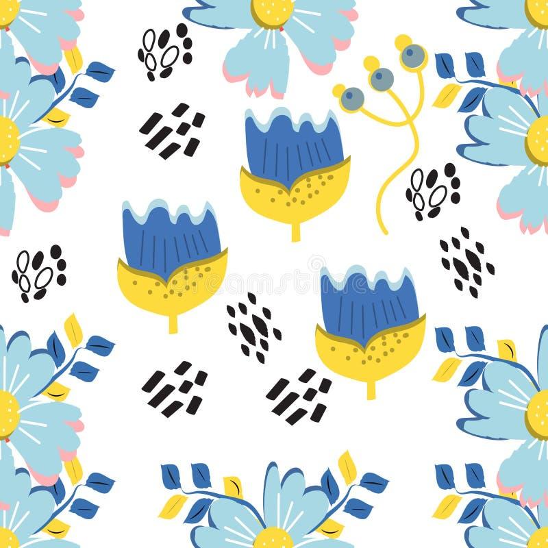 флористическое предпосылки экзотическое Картина Мемфиса вектора абстрактная безшовная Обои природы цветка завода, милые иллюстрация штока