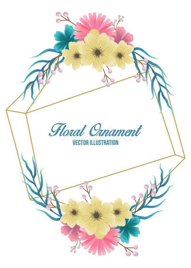 Флористическое приглашение свадьбы в vectorfloral акварели для приглашения свадьбы иллюстрация штока