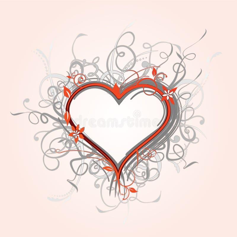 флористическое сердце богато украшенный бесплатная иллюстрация