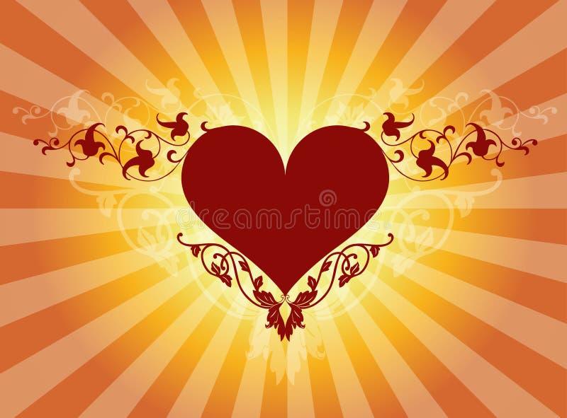 флористическое сердце бесплатная иллюстрация