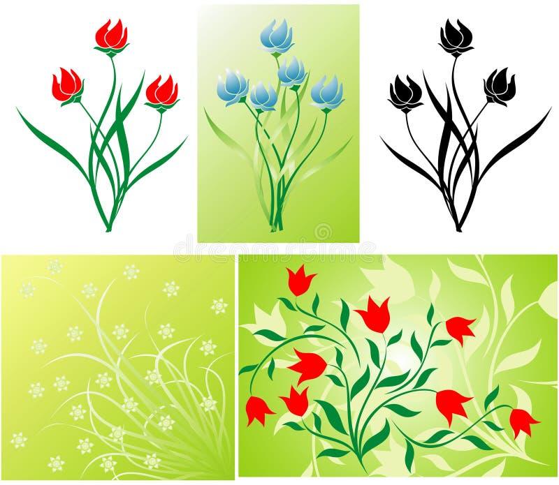 Флористическое украшение иллюстрация вектора