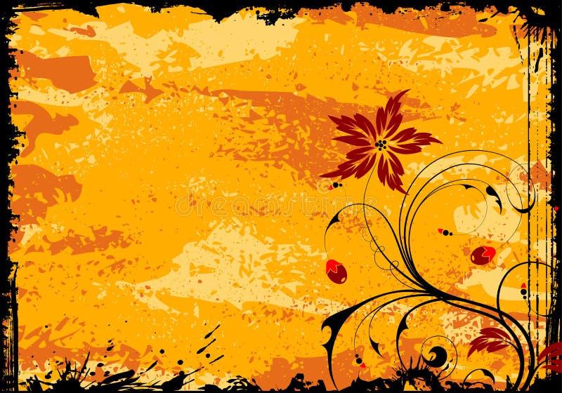 флористическое grunge рамки иллюстрация вектора