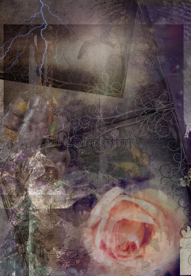 флористическое grunge иллюстрация штока