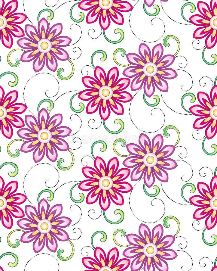 Флористическо - безшовная предпосылка бесплатная иллюстрация