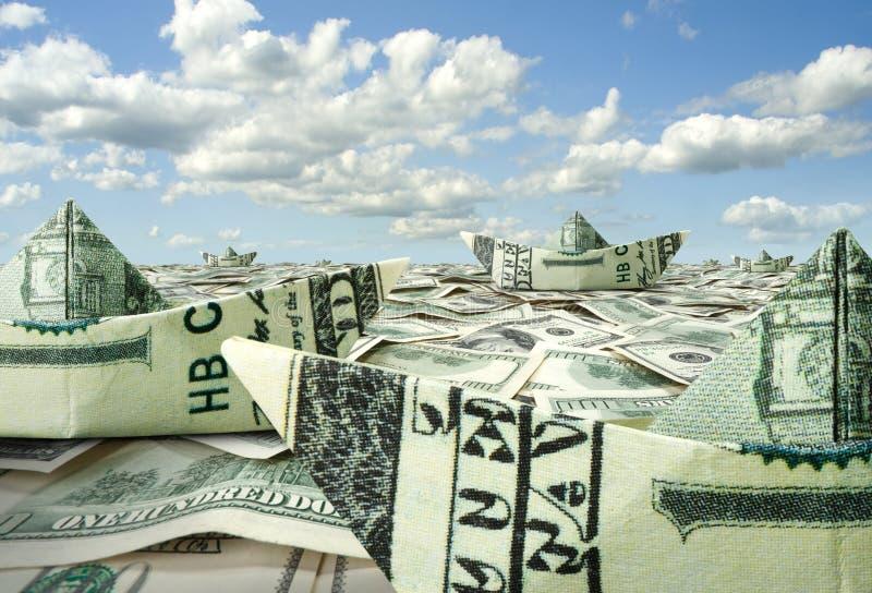 флот доллара шлюпок стоковое фото